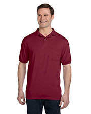 Hanes 054P Men 5.2 Oz. 50/50 Ecosmart Jersey Pocket Polo at GotApparel