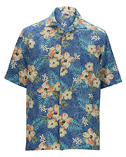 Edwards 1035 Men Tropical Hibiscus Camp Shirt at GotApparel