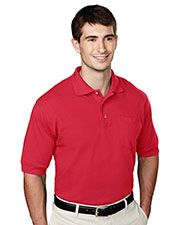 Tri-Mountain 106 Men Pique Pocketed Golf Shirt at GotApparel