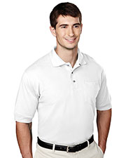 Tri-Mountain 106 Men Image Short Sleeve Pique Pocketed Golf Shirt at GotApparel