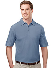 TRI-MOUNTAIN PERFORMANCE 107 Men Endurance Poly Ultracool Waffle Knit Golf Shirt With Self-Fabric Collar at GotApparel