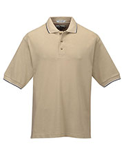 Tri-Mountain 116 Men Pursuit Short Sleeve Ultracool Mesh Golf Shirt With Trim Collar at GotApparel