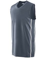 Augusta 1180 Men Sleeveless Winning Streak Basketball V-Neck Jersey at GotApparel