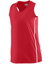 Augusta 1183 Girls Sleeveless Winning Streak Racerback Basketball V-Neck Jersey at GotApparel