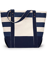 Gemline 1211 Seaside Zippered Cotton Tote at GotApparel