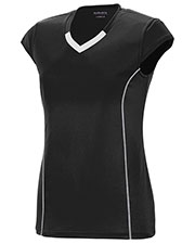Augusta 1219 Girls Cap-Sleeve Blash V-Neck Jersey at GotApparel