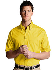 Edwards 1230 Men Poplin Short Sleeve Shirt at GotApparel