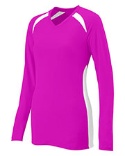 Augusta 1305 Women's Spike Volleyball Long-Sleeve V-Neck Jersey at GotApparel