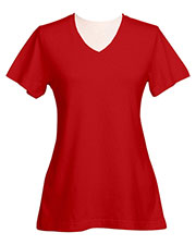 Tri-Mountain 130 Women Appeal Cotton Jersey V-Neck Knit at GotApparel