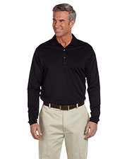 Ashworth 1352 Men EzTech Long Sleeve Polo at GotApparel
