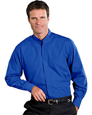 Edwards 1396 Men's Banded Collar Long-Sleeve Shirt at GotApparel
