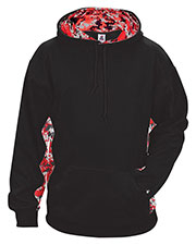 Badger 1464 Men Digital Color Block Hooded Fleece at GotApparel