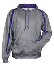 Badger 1467 Men 100% Polyester Performance Fusion Hooded Sweatshirt at GotApparel