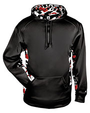 Badger 1469 Men Camo Colorblock Hood at GotApparel