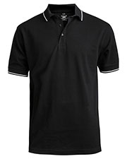 Edwards 1510 Men Short Sleeve Tipped Collar And Cuff Polo at GotApparel