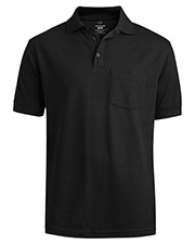 Edwards 1535 Men Unisex Soft Touch Cotton Pique Short-Sleeve Polo With Pocket at GotApparel