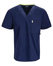 Code Happy 16600AB Men's V-Neck Solid Scrub Top at GotApparel