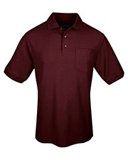 Tri-Mountain 169 Men Signature Ltd Pique Pocketed Short Sleeve Golf Shirt at GotApparel