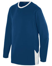 Augusta 1717 Men Block Out Long-Sleeve Jersey at GotApparel