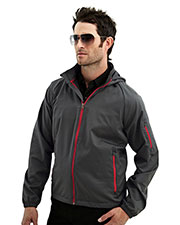Tri-Mountain 1730 Men Cf-1 Rib Stop Water Resistant Long-Sleeve Hoodly Jacket at GotApparel