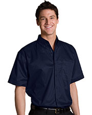 Edwards 1740 Men's Big & Tall Left Chest Pocket Short-Sleeve Twill Shirt at GotApparel
