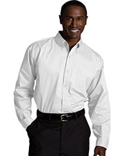 Edwards 1750 Men's Big & Tall Left Chest Pocket Long-Sleeve Twill Shirt at GotApparel