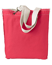 Authentic Pigment 1906 Unisex 14 oz. Direct-Dyed Raw-Edge Tote at GotApparel