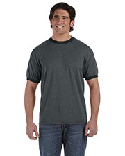 Authentic Pigment 1937 Men 6 oz. DirectDyed Heather Ringer T-Shirt at GotApparel