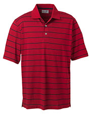 Ashworth 2038C Men High Twist Cotton Tech Stripe Polo at GotApparel