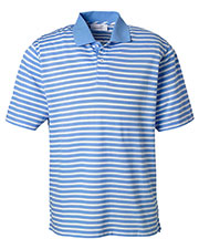 Ashworth 2048 Men Dual Tone Pique Stripe Polo at GotApparel
