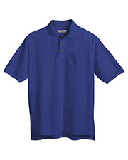 Tri-Mountain 206 Men Engineer Stain Resistant Pique Pocketed Short Sleeve Golf Shirt at GotApparel
