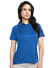 Tri-Mountain 225 Women Dauntless Raglan Knit Polo Shirt at GotApparel