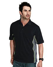 Tri-Mountain 226 Men Gt-2 Rib Collar Knit Polo Shirt  at GotApparel