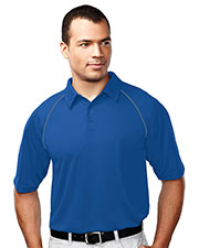 TRI-MOUNTAIN PERFORMANCE 227 Men Dauntless Raglan Sleeve Knit Polo Shirt With Self-Fabric Collar at GotApparel