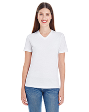 American Apparel 2356W Women Ladies' Fine Jersey Short-Sleeve V-Neck at GotApparel