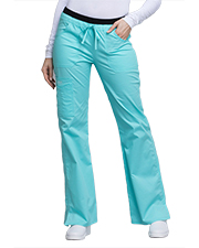 Cherokee Workwear 24001P Women Low Rise Drawstring Cargo Pant at GotApparel
