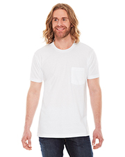 Custom Embroidered American Apparel 2406W Men 4.3 oz Fine Jersey Pocket Short-Sleeve T-Shirt at GotApparel