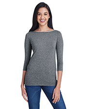 Anvil 2455L Women Stretch 3/4 Sleeve T-Shirt at GotApparel