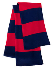Sportsman Sp02  Rugby Striped Knit Scarf at GotApparel