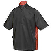 Tri-Mountain 2610 Men's Icon Windproof/Water Resistant 1/2 Zip Short-Sleeve Shirt at GotApparel