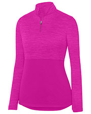 Augusta 2909 Women Shadow Tonal Heather 1/4 Zip Pullover at GotApparel