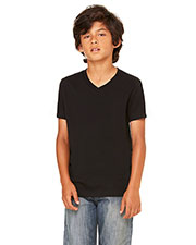 Bella + Canvas 3005Y Boys Jersey Short-Sleeve V-Neck T-Shirt at GotApparel