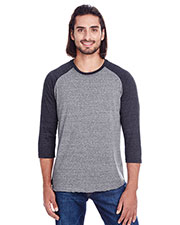 Threadfast Apparel 302G Unisex 4.1 oz Triblend 3/4-Sleeve Raglan at GotApparel
