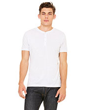 Bella + Canvas 3125 Men Tri-Blend Short-Sleeve Henley at GotApparel
