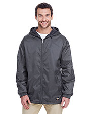 Dickies 33237 Men's Fleece-Lined Hooded Nylon Jacket at GotApparel