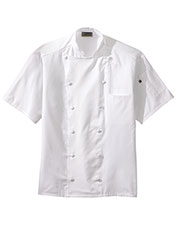 Edwards 3331 Unisex Mid Weight Classic Back Mesh Short-Sleeve Chef Coat at GotApparel