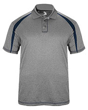 Badger 3347 Men Fusion Three Button Polyester Polo Shirt at GotApparel