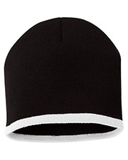 Sportsman Sp09  8 Inch Bottom Striped Knit Cap at GotApparel