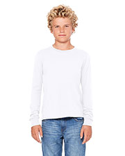Bella + Canvas 3501Y Boys Jersey Long Sleeve T-Shirt at GotApparel