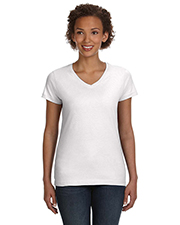 LAT 3507 Women Ladies' V-Neck Fine Jersey T-Shirt at GotApparel